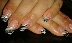 20 nails - gel - bílá francie + zdobičky