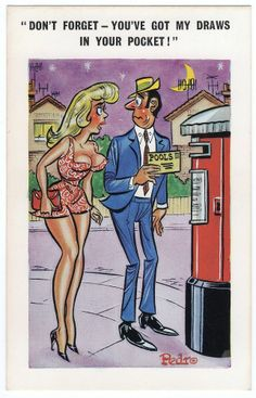 Postcard COMIC Pedro Blonde Football Pools Gambling Draws Theme No. 155