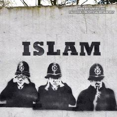 Who is paying the police to see, hear and speak no evil, that is performed by the religious?
