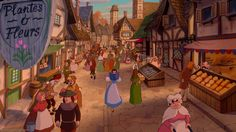 Beauty and the Beast village back drop - Google Search