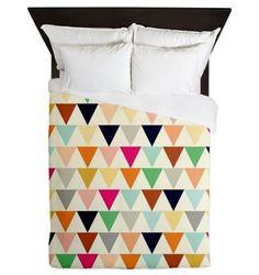 Triangles Queen Duvet Cover - Crème De La Crème - Ornaart Design on Etsy, $229.39 CAD