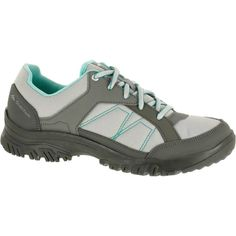 4b78ae10e193a Deportes de Montaña Deportes de Montaña - Zapatillas de travesía naturaleza  mujer Arpenaz 100 gris verde