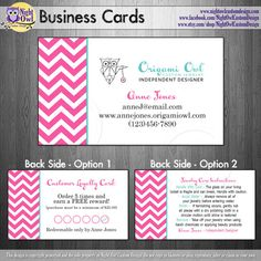 Origami Owl - O2 - Consultant or Director business cards - frequent buyer reward punch card