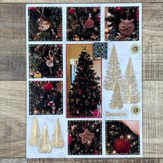 """Make-in-Wonder on Instagram: """"Day 2 -DECORATE THE TREE - I always look forward to decorate the Christmas tree! This year I used red and gold as the theme.🎄🎄🎄 - I stamped…"""" My Stamp, Instagram Accounts, Christmas Tree, Day, How To Make, Gold, Crafts, Decor, Teal Christmas Tree"""