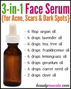 DIY Face Serum for Acne, Scars and Dark Spots – beautymunsta – free natural beauty hacks and more! DIY Face Serum for Acne, Scars and Dark Spots – beautymunsta – free natural beauty hacks. Homemade Skin Care, Diy Skin Care, Skin Care Tips, Homemade Beauty, Diy Beauty Oil, Homemade Body Wash, Homemade Face Moisturizer, Homemade Body Butter, Skin Tips