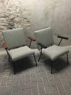 Lounge chairs Wim Rietveld, Gispen, vintage design, Dutch design