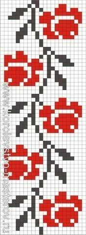 Peyote Patterns, Loom Patterns, Pixel Art, Tapestry Crochet, Crochet Chart, Loom Beading, Crochet Flowers, Needlework, Beaded Bracelets