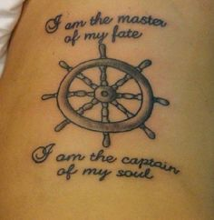I got this on the left side of my ribcage. It was my first tattoo, and nothing has ever meant so much to me. I plan on getting an anchor wrapped around my ankle as well.