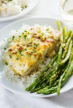 Garlic Parmesan Baked Halibut – Atıştırmalıklar – Las recetas más prácticas y fáciles