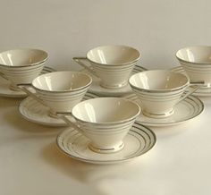 Cups and Saucers Set.