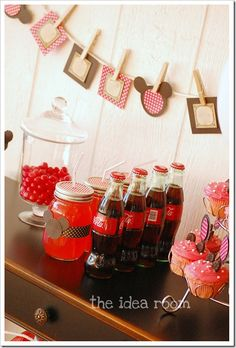 Mickey Mouse Mason Jar drinks - perfection!