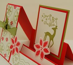 CRAFTY RED: Stampin' Up Christmas cards