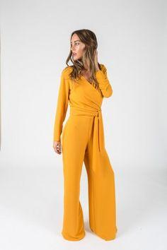 Pantalón OCÉANO Amarillo Mostaza - Pantalones y Faldas - SHOP
