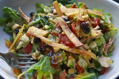 BBQ Chicken Salad--I too have been obsessed with TJ's salad, and this sounds like such an excellent (healthier) alternative.