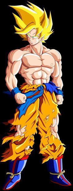 Goku Super Saiyajin 1 by mr. Dragon Ball Gt, Dragon Z, Manga Dbz, Manga Dragon, Goku Y Vegeta, Son Goku, D Mark, Dbz Characters, Fictional Characters
