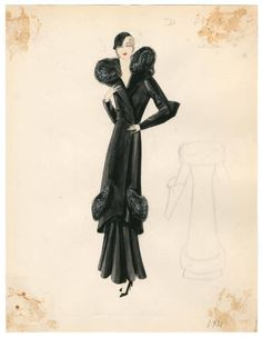 Bergdorf Goodman sketches : Louis 1931-1950. 1931-1950. Metropolitan Museum of Art, New York. Costume Institute. Bergdorf Goodman sketches, 1929-1952 Costume Institute. #gorgeous #inspiration | Fashion is part of life.