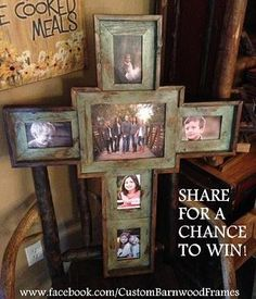 Wooden Cross Picture Frame - my next project :)