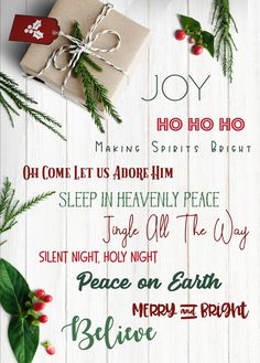 Mega List of Christmas Words, Sayings, Quotes and Phrases