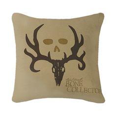 Bone Collector Brown Square Pillow Tan