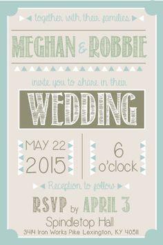 Wedding Invitation designed by Meghan Alessi