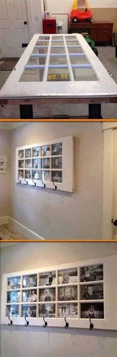 Giant Handmade Photo Frame. Photo frames are always a tradition for DIY home decor! Try to make one for your home with the following instructions.