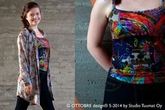 Tank top and button down top from Ottobre Design 5/2014