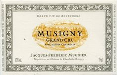 Domaine Leroy Musigny Grand Cru, Cote de Nuits, France | Domaine Jacques-Frederic Mugnier Le Musigny Grand Cru, Cote de Nuits ...