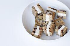 Eggless Cookie Dough Ice Cream Sandwich Bites   theglitterguide.com