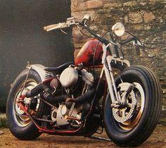 Bobber Inspiration | Harley evo bobber | Bobbers and Custom Motorcycles: