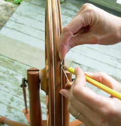 How to replace a cotton drive band on your spinning wheel (from Knitty.com)