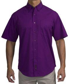 60e453bb14fd Short Sleeve Purple Dress Shirt