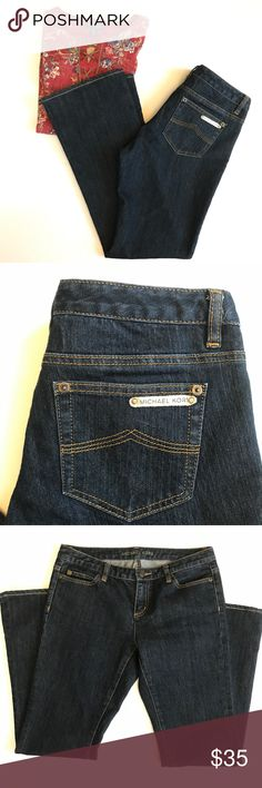 Michael Kors Boot Cut Jeans Great condition ~ Dark blue wash ~ Approximately 28 inch inseam {7} Michael Kors Jeans Boot Cut