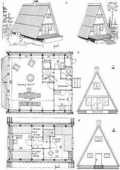 Are A-frame Cabin Kits Worth it? A Frame House Plans, A Frame Cabin, Tiny House Plans, Pool Solar Panels, Solar Panels For Home, Triangle House, Hut House, Diy Cabin, Cabin Kits