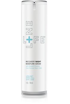 This advanced anti-aging formula works with your body's natural healing cycle to rejuvenate skin at night. Recovery Night Moisture Serum combines growth factors derived from human non-embryonic stem cells with powerful skin peptides and amino acids.  Clinically proven to reduce fine lines and wrinkles.  You'll wake up and find firmer and younger-looking skin.