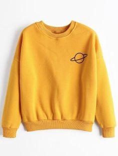 Planet Drop Shoulder Sweatshirt - Ginger