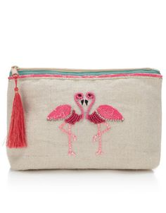 Gemma Flamingo Makeup Bag