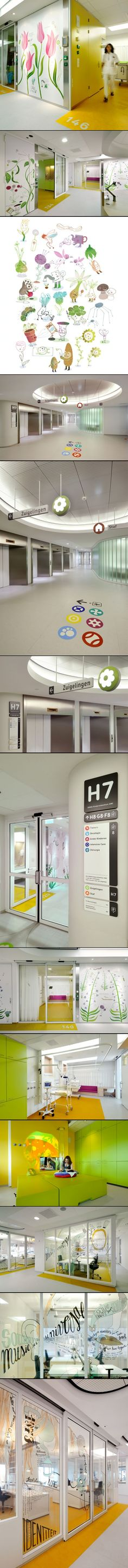 Emma Children's Hospital EKZ, Netherlands - Healthcare Interiors - Wayfinding, Orientation and Art - Healing Environmental Design