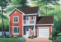 Eplans Cottage House Plan - Quaint Country-Style Home - 1252 Square Feet and 3 Bedrooms from Eplans - House Plan Code HWEPL04590
