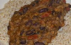 Lentil And Beans With Rice - Easy, low cost and delicious!