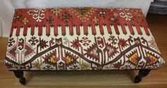 Antique Bench Kilim Stool Size 101 x 45cm Code R7727 by Rugstore