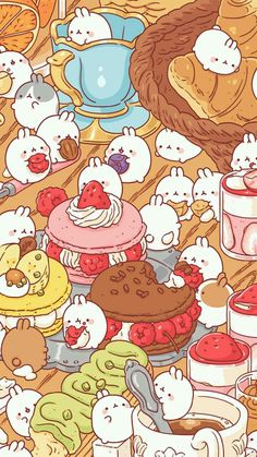 Molang Choose Ur Molang and name it.(also descirbe how it looks like) eg.My molang is the one on the croissant-I named it Puffy Chibi Kawaii, Kawaii Doodles, Cute Kawaii Drawings, Cute Animal Drawings, Cute Doodles, Kawaii Art, Kawaii Room, Kawaii Stuff, Kawaii Anime