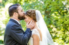 Romantic forehead kiss portrait of bride and groom | Ashley Gerrity Photography | Whitemarsh Country Club, Lafayette Hill Wedding