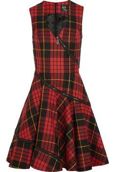 Tartan 'Jumper' Dress / Zippered up.