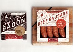 Sausage packaging by Make & Matter