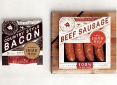 Sausage packaging by Make & Matter