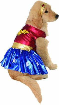 Rubies Costume DC Heroes and Villains Collection Pet Costume, Medium, Wonder Woman * Read more at the image link.