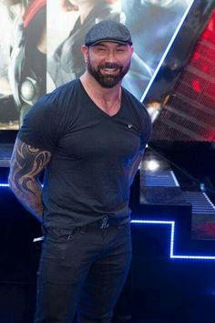 Dave Bautista at an event for Avengers: Age of Ultron Batista Wwe, Dave Bautista, Catch, Hot Guys Eye Candy, Wwe Champions, Marvel Actors, Daniel Craig, Celebrity Crush, Gorgeous Men