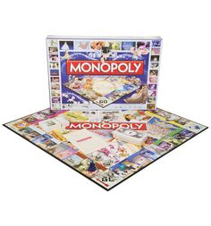 Build cottages and castles in this magical version of the famous board game Monopoly! Choose between the collectors tokens, Genie\'s Lamp, Cinderella\'s Glass Slipper, the Wicked Queen\'s Poisoned Apple, Captain Hook\'s Ship and more as your counter. Even Baloo and the Fairy Godmother are on hand to offer some assistant on your road to victory!