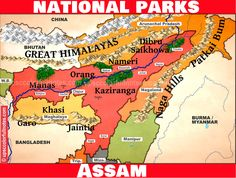 5 National parks in Assam? National Parks, Map, Location Map, Maps