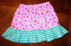 Cupcake and chevron skirt on Etsy, $15.00